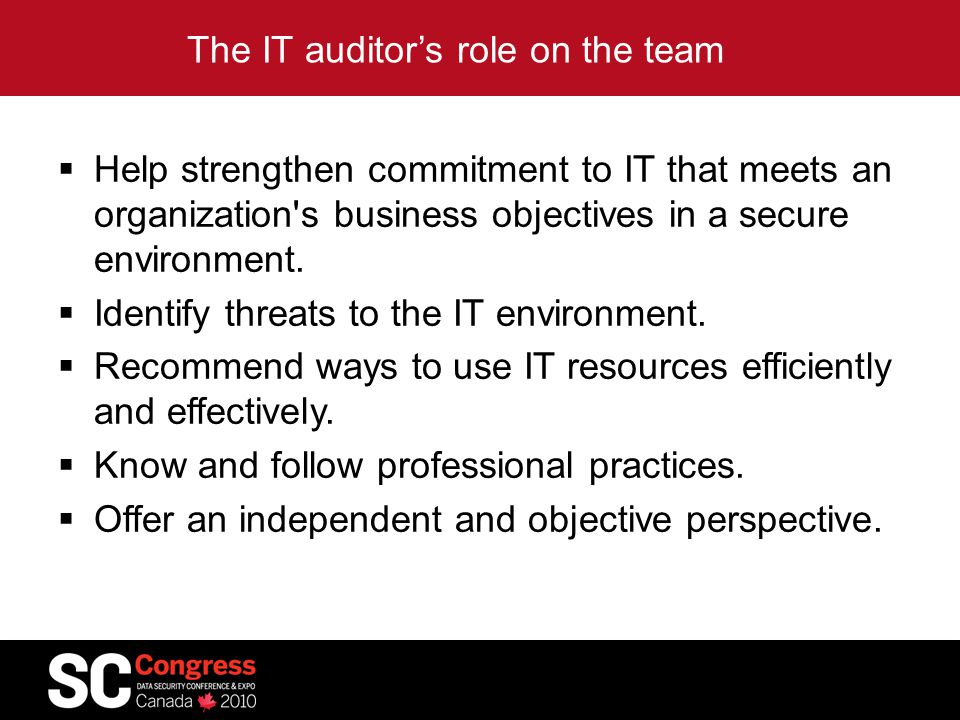  If it ain't documented it ain't done (well)  Audit recommendations usually identify a need for more documentation.