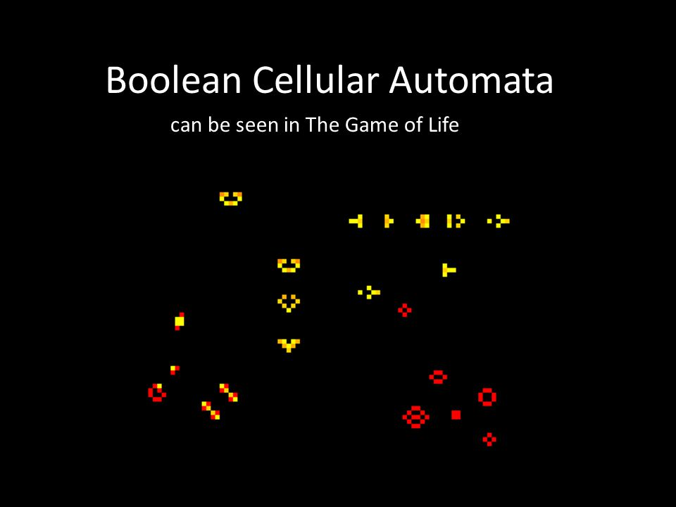 Excitable Media Boolean Cellular Automata can be seen in The Game of Life