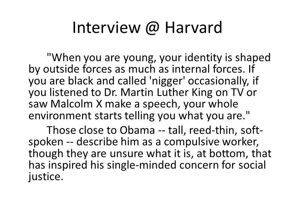 Interview @ Harvard