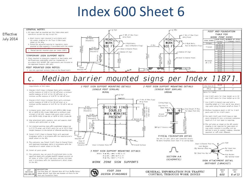 Index 600 Sheet 6 Effective July 2014