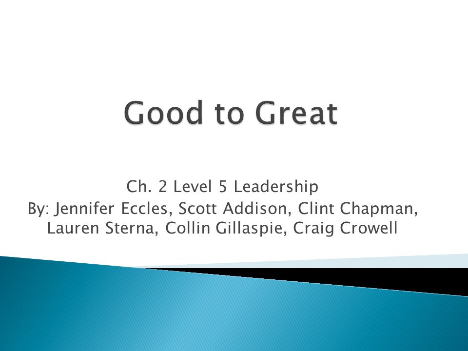 It is very important to grasp that Level 5 leadership is not just about humility and modesty.