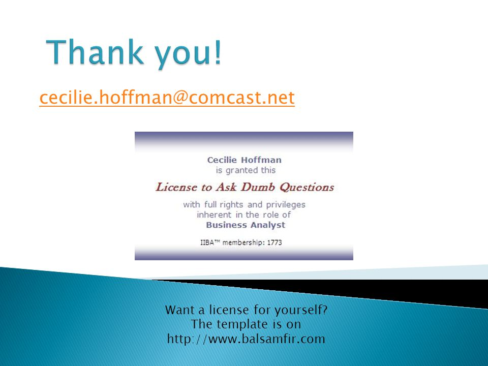 cecilie.hoffman@comcast.net Want a license for yourself.