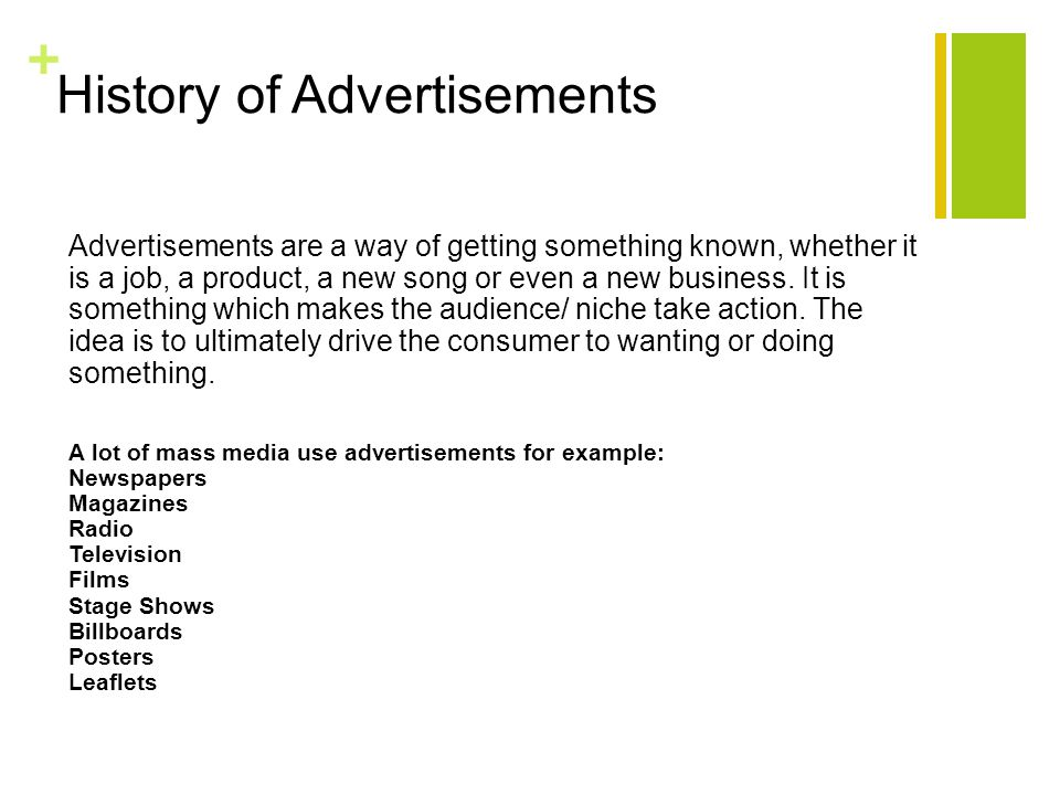 + Number 4) Examples of why not and what we would have to ensure our advert didn't include.