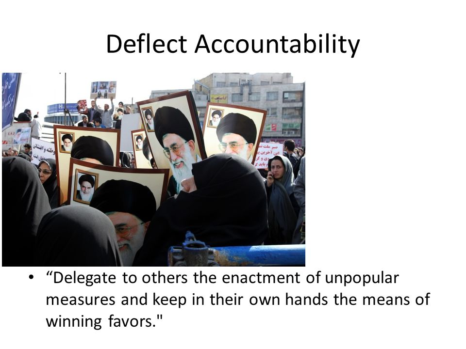 Delegate to others the enactment of unpopular measures and keep in their own hands the means of winning favors.