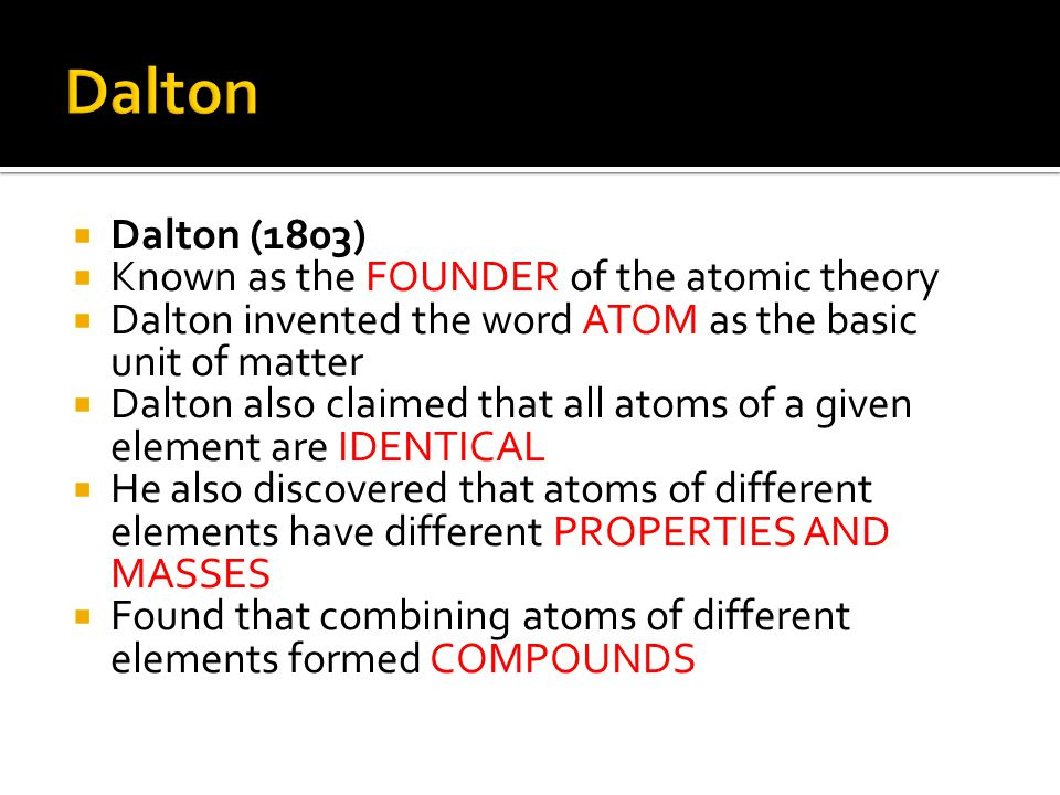  Elements are different because they contain different numbers of PROTONS  atomic number = the number of protons in the nucleus  # protons in an atom = # electrons
