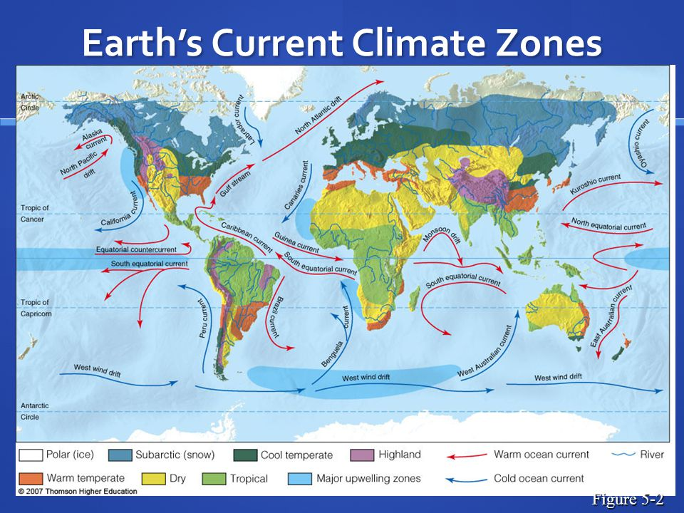 Earth's Current Climate Zones Figure 5-2