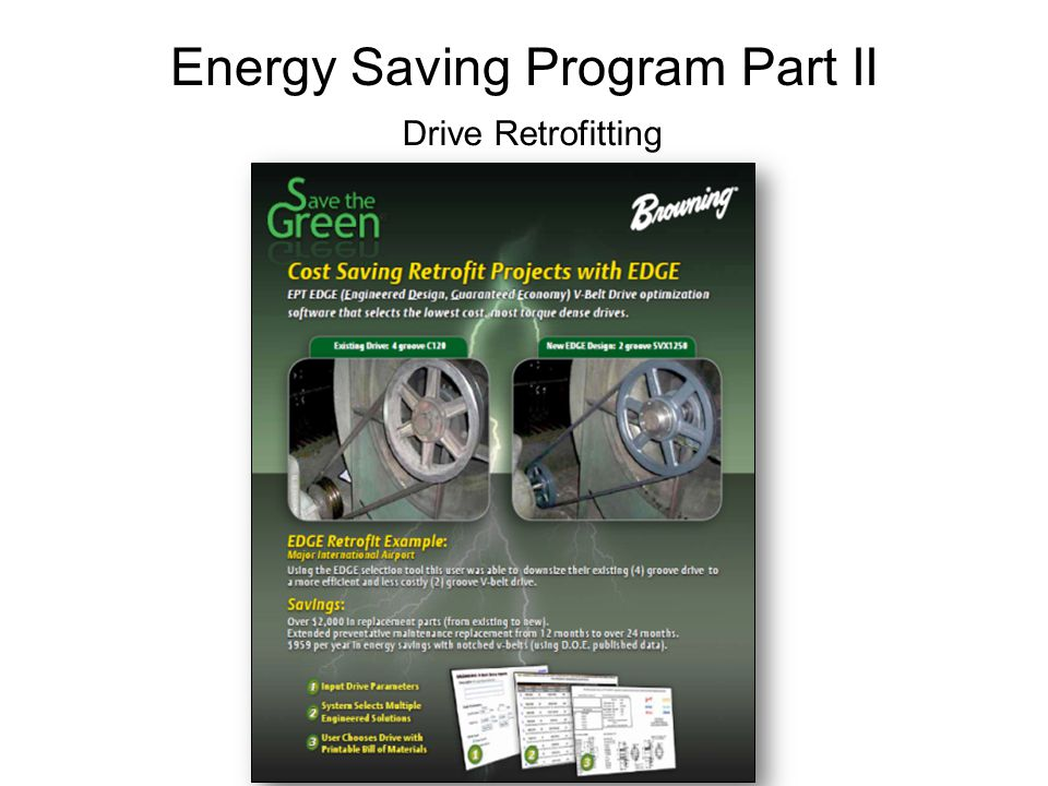 Energy Saving Program Part II Drive Retrofitting