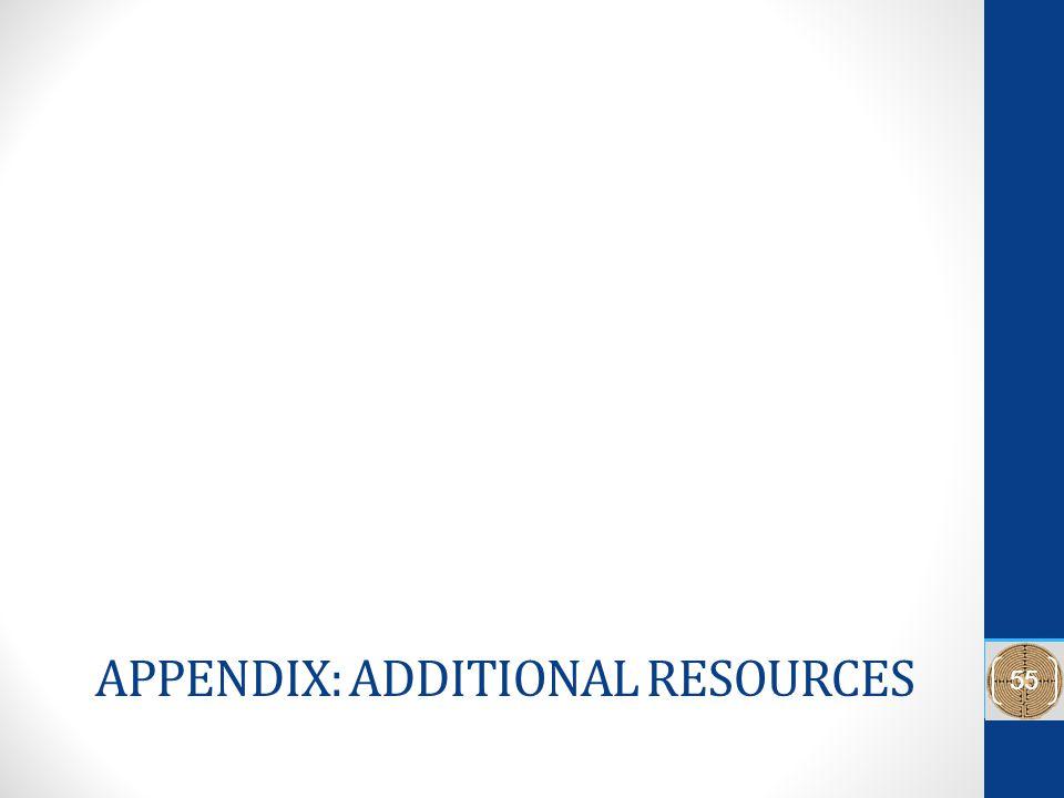APPENDIX: ADDITIONAL RESOURCES 55