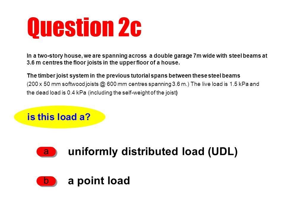 Question 2m to check the deflection of the 200 UB 25.4 beam what else do we need to know.