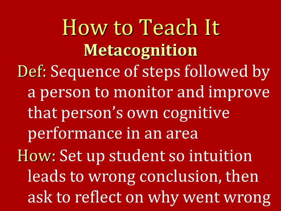 Metacognition (a) (b) Which way will right end deflect (up or down)?