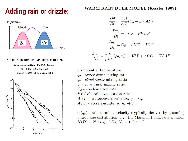 Adding rain or drizzle: