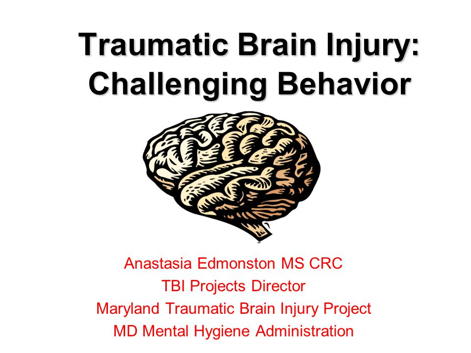 County Detention Center 2008 –N=25 (16 male, 9 female) –22 reported possible TBI(s) –Single TBI=10 –2 or more incidents of TBI= 12 –No History of TBI =3 –88% screened reported a history of TBI