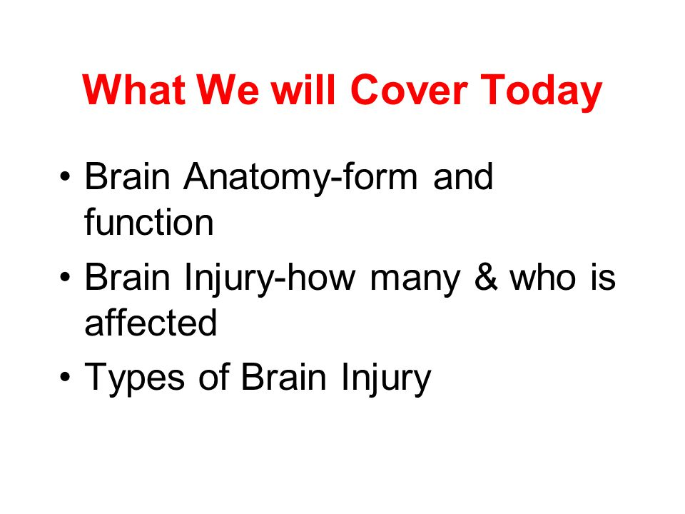 Brain Injury and Children According to the BIAA, Brain Injury is the leading cause of death and disability among children Approximately 470,000 TBI's occur among children 0-14 years old a year Brain injuries account for over 90% of emergency department visits in children 0-14 years old CDC Report Traumatic Brain injury in the United States January 2006