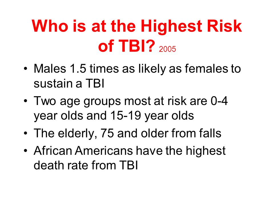 Causes of TBI CDC 2006