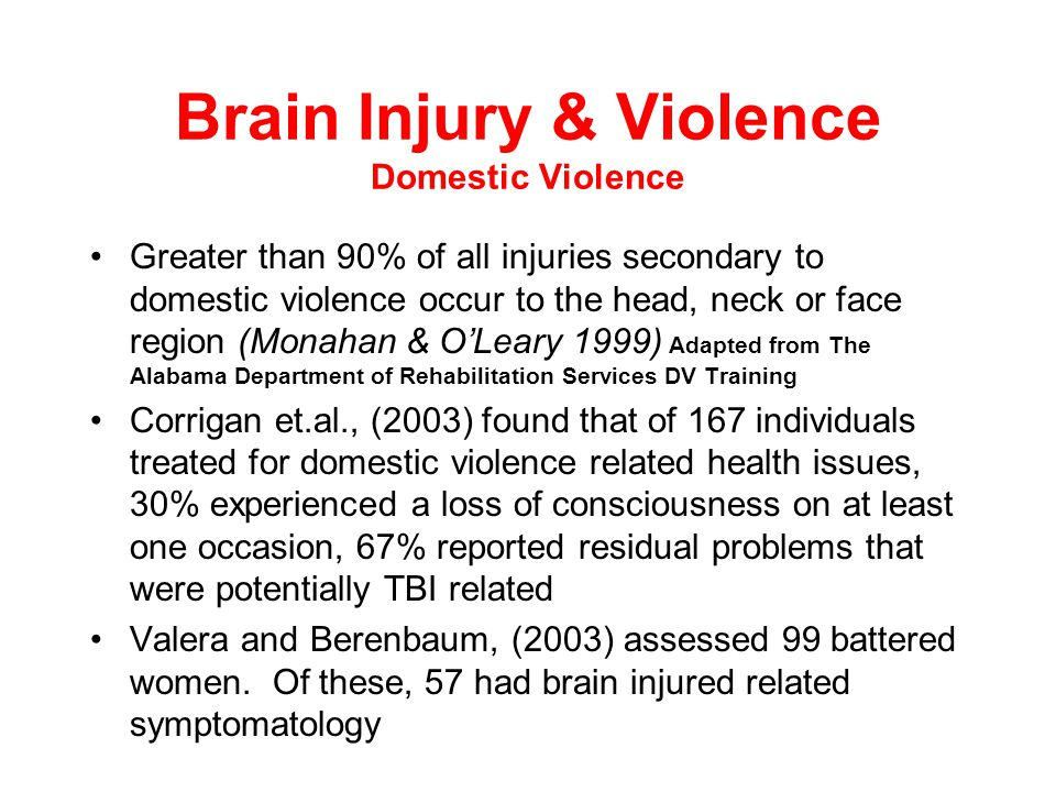 Brain Injury in the Correctional Setting-Nationally CDC website 2008 Woman inmates who are convicted of a violent crime are more likely to have sustai