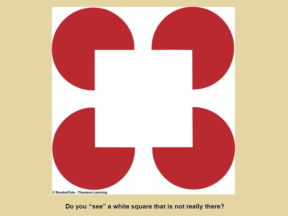Do you see a white square that is not really there