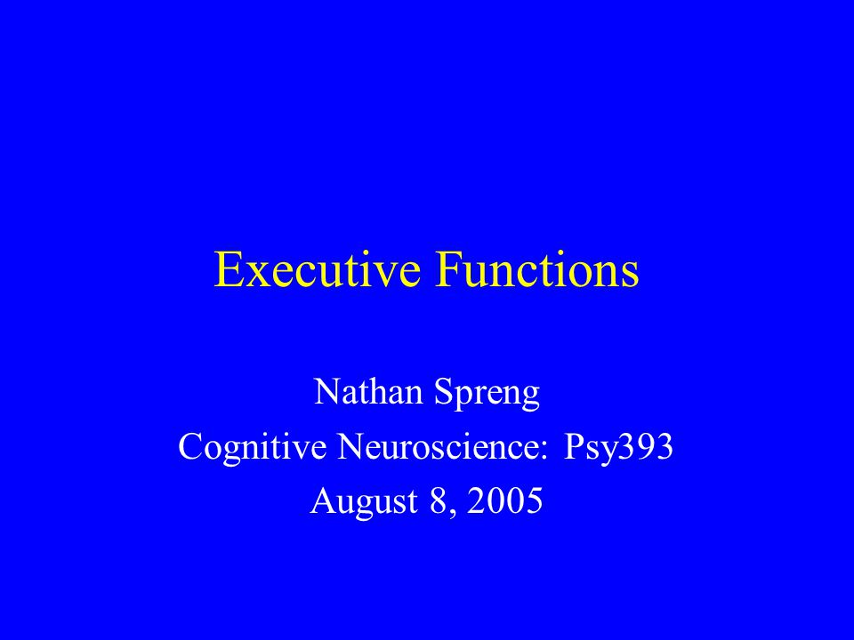 Contention Scheduling (3) Trigger Data Base Special-purpose Cognitive Subsystems (1) Perceptual System Supervisory Attentional System (4) Schema Control Units (Action) (2) Supervisory Attentional System Shallice (1981)