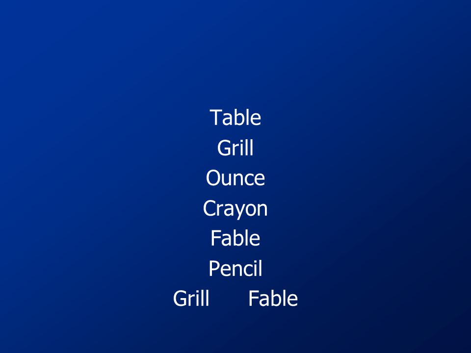 Table Grill Ounce Crayon Fable Pencil Grill Fable