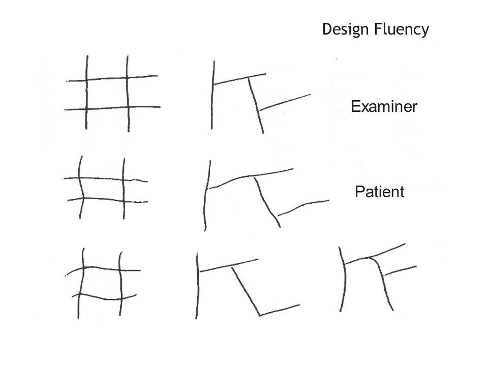 Design Fluency Examiner Patient