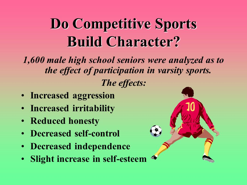 Do Competitive Sports Build Character.