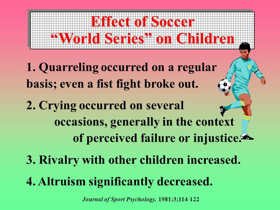 Effect of Soccer World Series on Children Effect of Soccer World Series on Children 1.