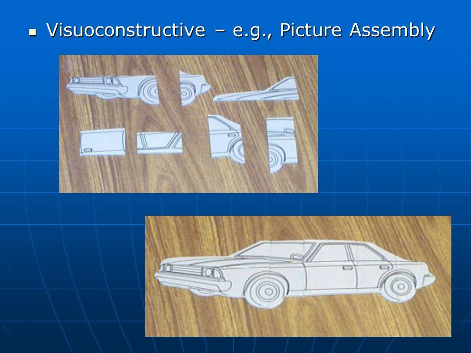 Visuoconstructive – e.g., Picture Assembly Visuoconstructive – e.g., Picture Assembly