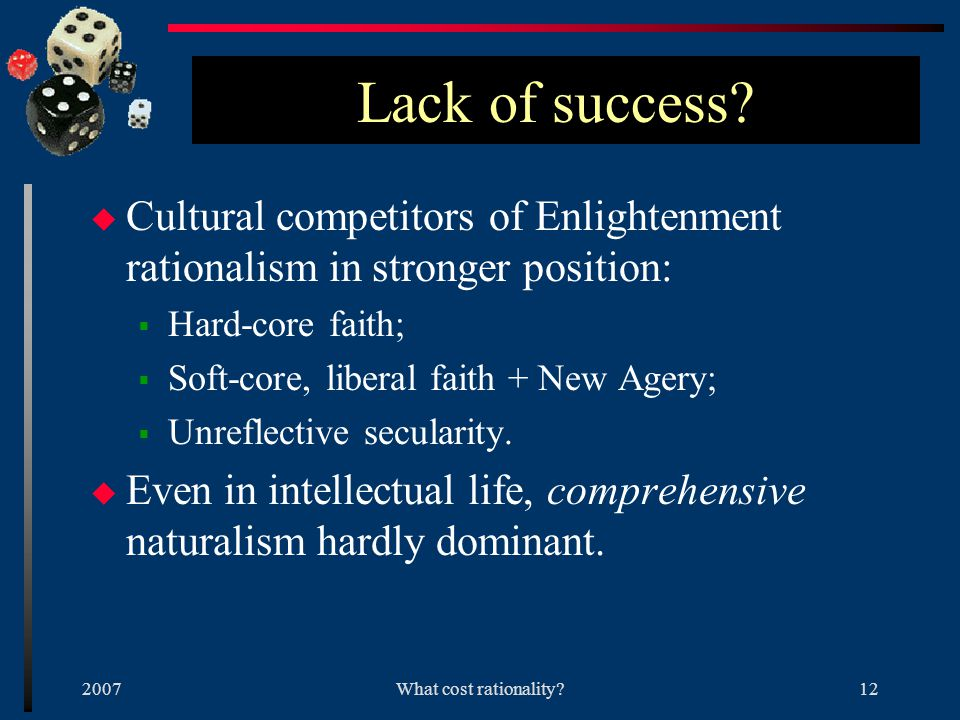 2007What cost rationality 11 Example 2 u Neoclassical economics.