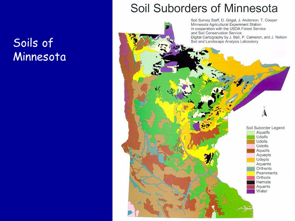 Suborder Map Soils of Minnesota