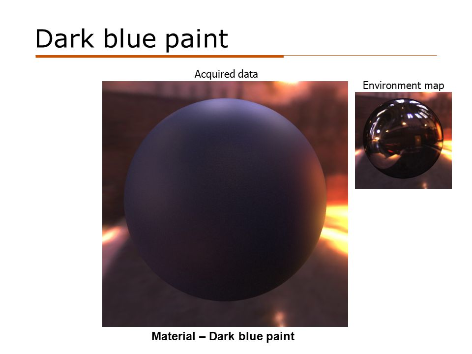 Dark blue paint Acquired data Material – Dark blue paint Environment map