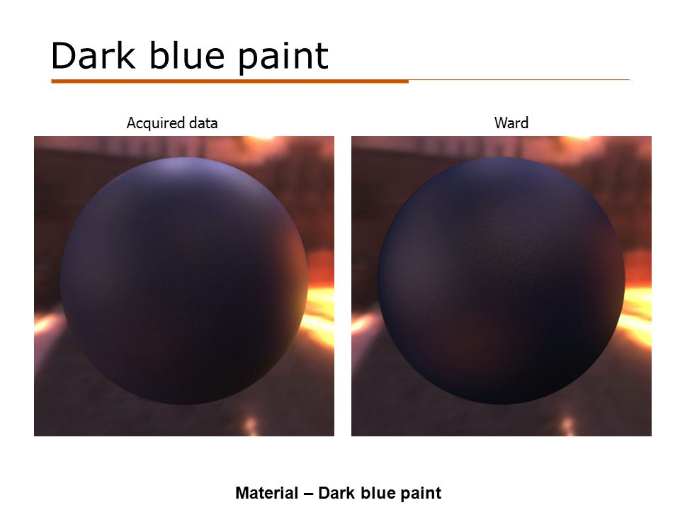 Dark blue paint Acquired dataWard Material – Dark blue paint