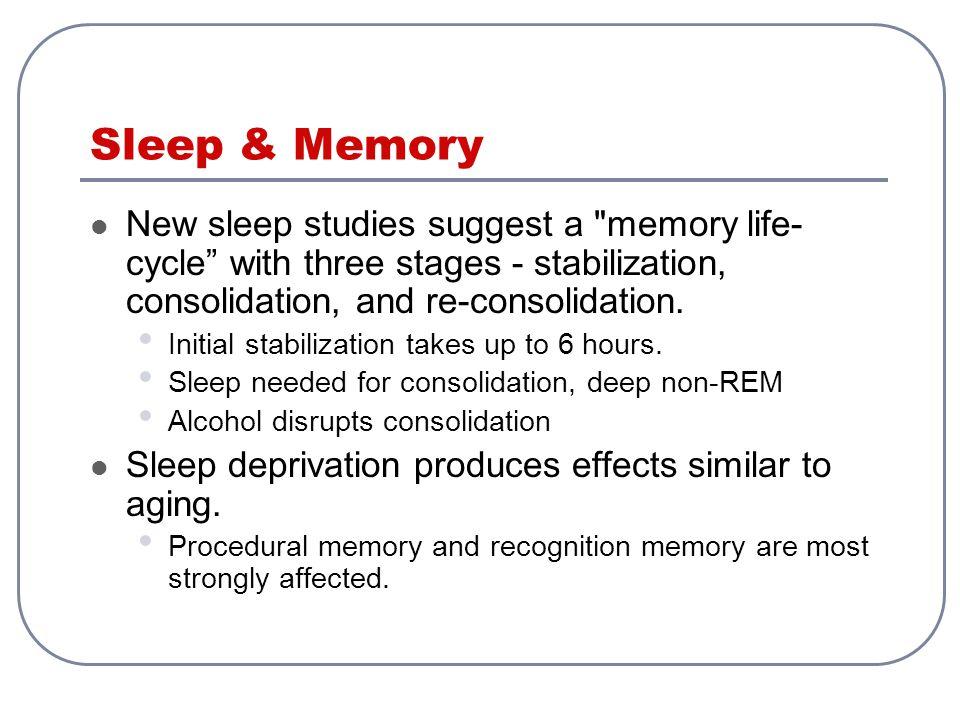 Sleep & Memory New sleep studies suggest a