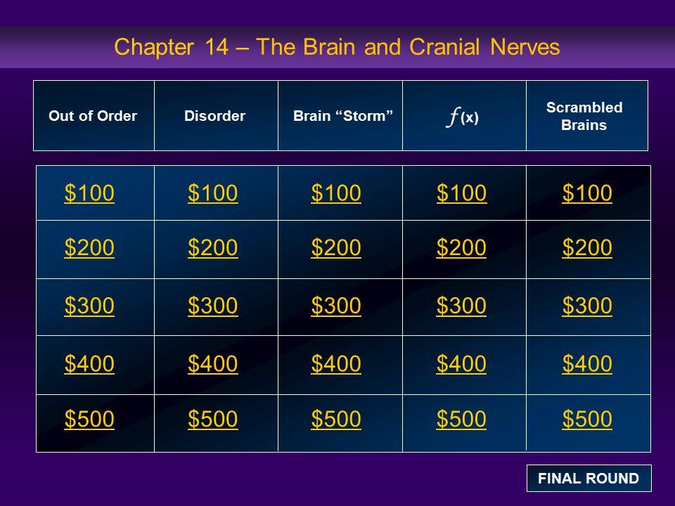 Brain Storm : $100 Question What brain regions make up the brain stem.
