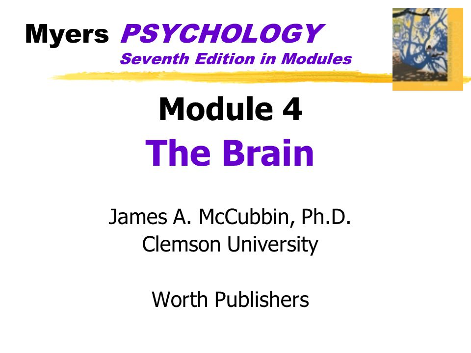 Myers PSYCHOLOGY Seventh Edition in Modules Module 4 The Brain James A.
