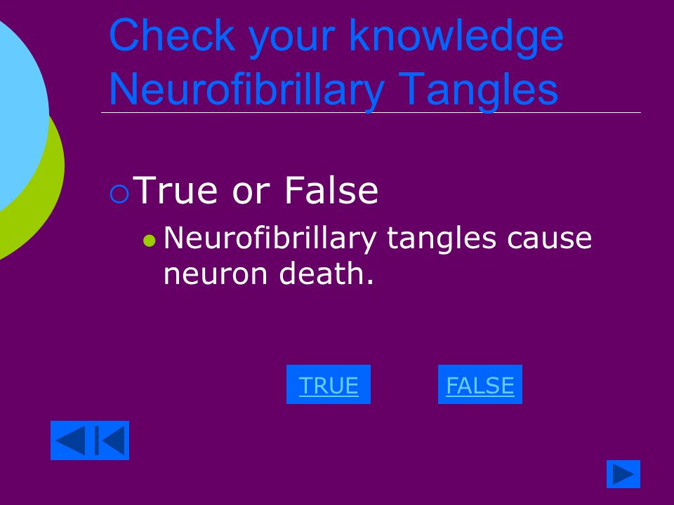 Neurofibrillary Tangles  Composed of Tau protein and amyloid deposits.
