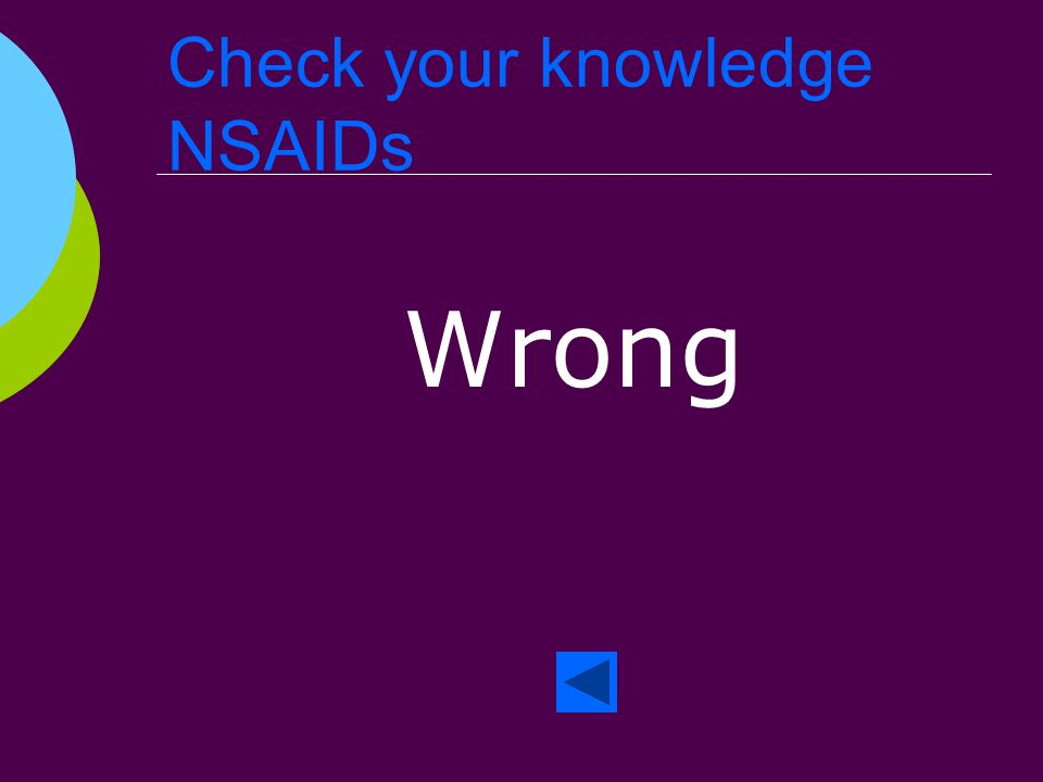 Check your knowledge NSAIDs Right!