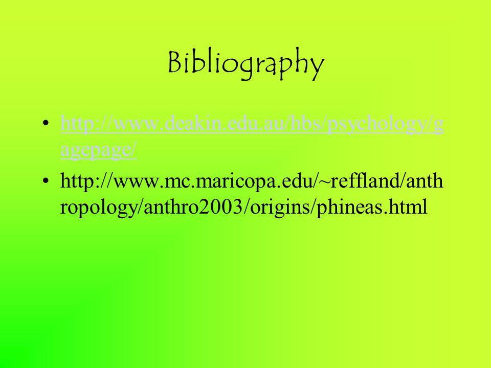 Bibliography http://www.deakin.edu.au/hbs/psychology/g agepage/http://www.deakin.edu.au/hbs/psychology/g agepage/ http://www.mc.maricopa.edu/~reffland