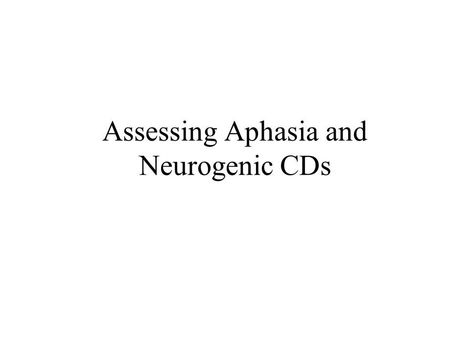 Classical Aphasia Syndromes Broca's aphasia** Wernicke's aphasia** Global aphasia** Conduction aphasia Transcortical motor aphasia Transcortical sensory aphasia Mixed aphasia –Disconnection syndromes
