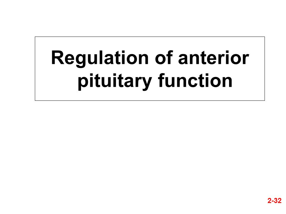 Regulation of anterior pituitary function 2-32
