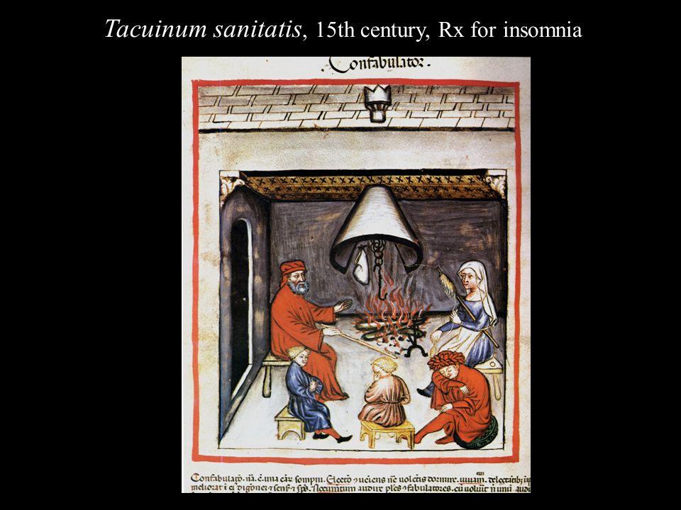 Tacuinum sanitatis, 15th century, Rx for insomnia