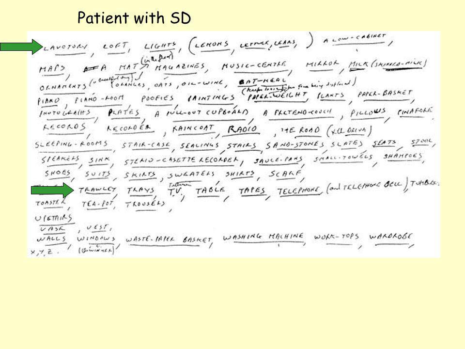 Patient with SD