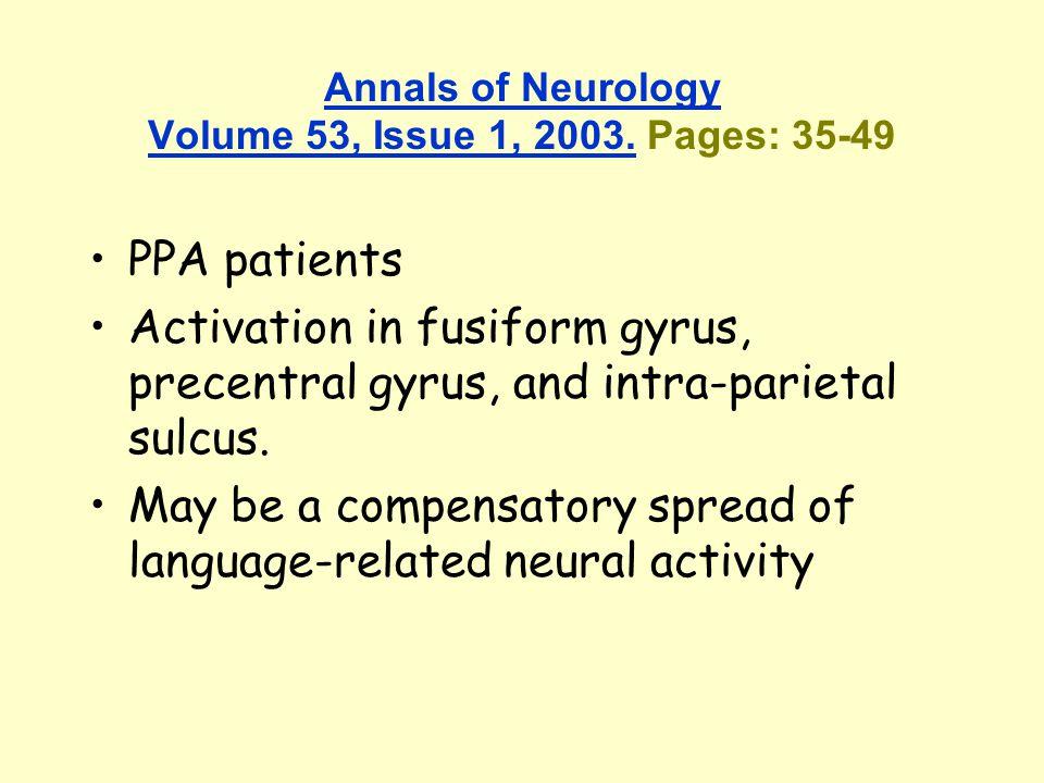 Annals of Neurology Volume 53, Issue 1, 2003.Annals of Neurology Volume 53, Issue 1, 2003.