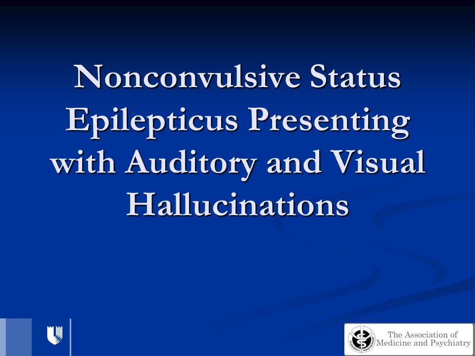 Nonconvulsive Status Epilepticus Presenting with Auditory and Visual Hallucinations