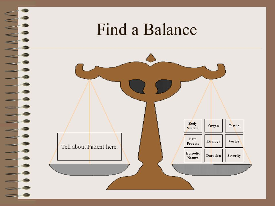 Find a Balance Tell about Patient here.