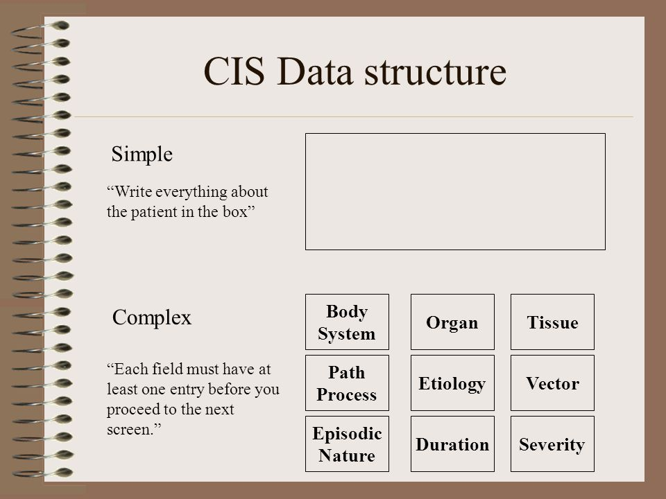 Storing an instance (why?) We need a way to store the data in a relational database that will facilitate searches and statistics –Must allow for representation of structure.