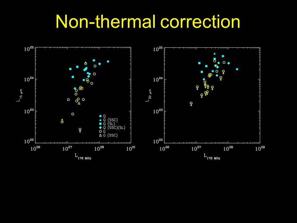 Non-thermal correction
