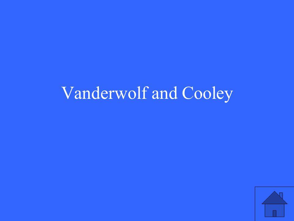 Vanderwolf and Cooley