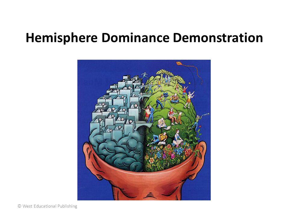 © West Educational Publishing Hemisphere Dominance Demonstration