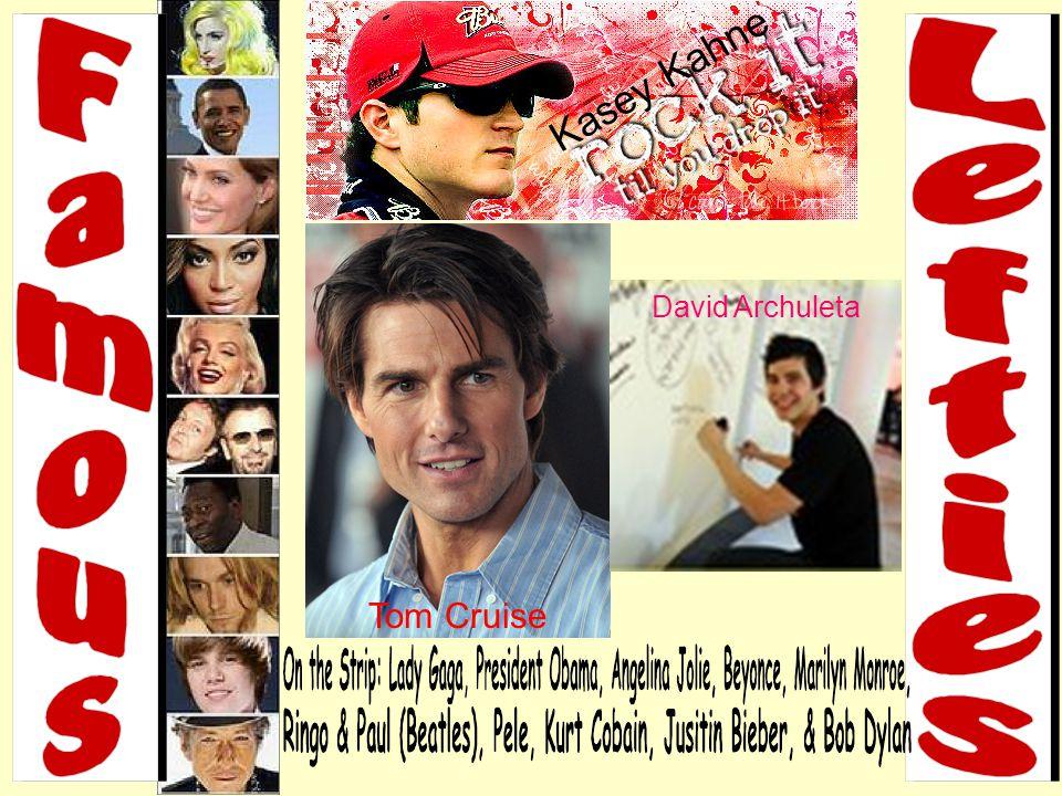 Tom Cruise David Archuleta & & Kasey Kahne