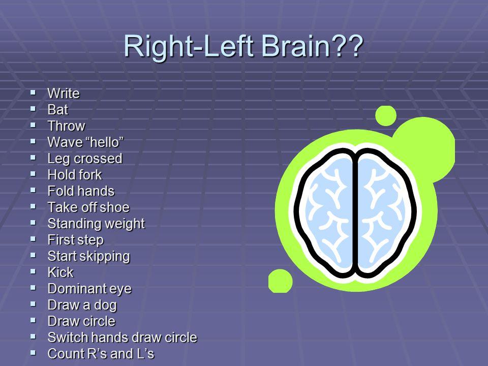 Right-Left Brain?.