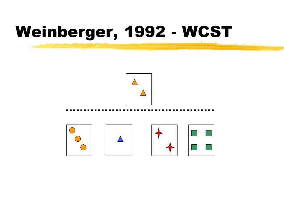 Weinberger, 1992 - WCST